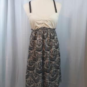 Eloise Anthropologie cotton blend  dress sz medium